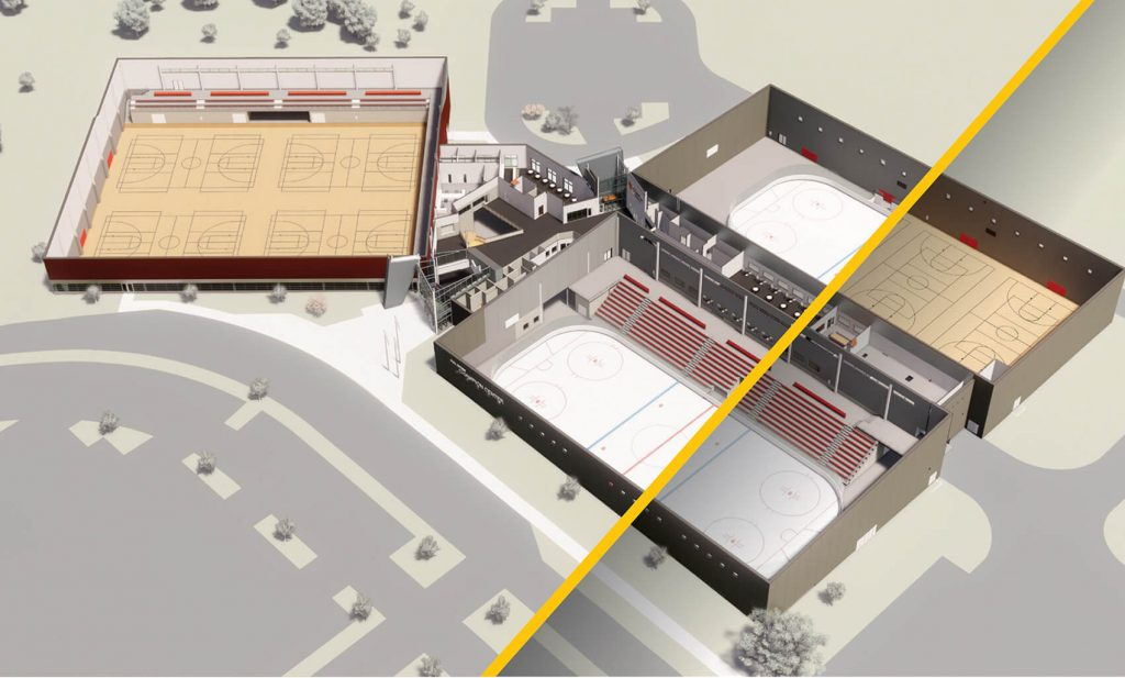 combined view of Champion center