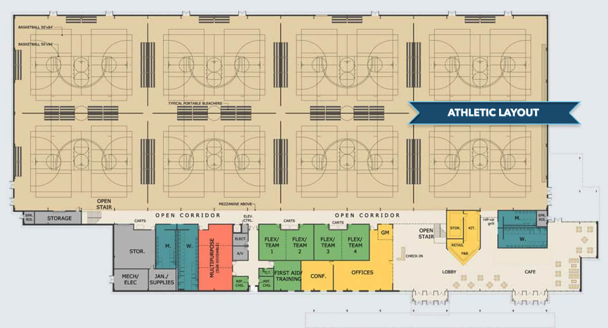 althletic floor plan for myrtle beach