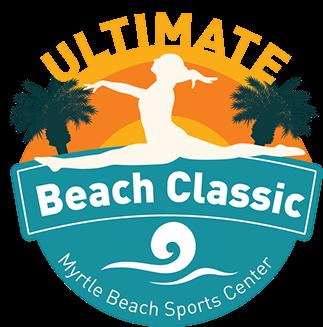 ultimate gymnastics beach classic logo